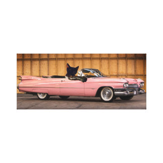 Cool Cat Caddy Canvas Print
