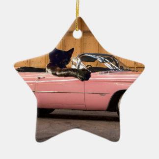 Cool Cat Caddy Ceramic Ornament