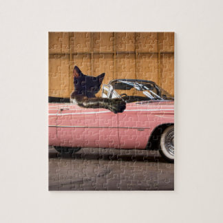 Cool Cat Caddy Jigsaw Puzzle