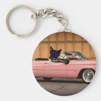 Cool Cat Caddy Keychain