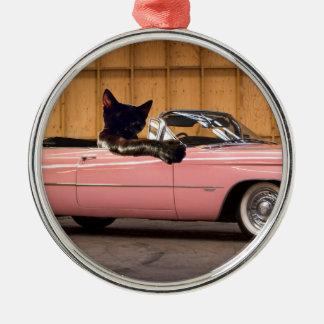 Cool Cat Caddy Metal Ornament