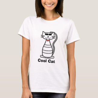 Cool Cat cute cartoon cat with sunglasses T-Shirt