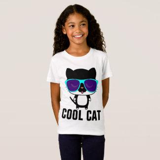 COOL CAT Funny Kids Girls T-shirts, Sunglasses T-Shirt