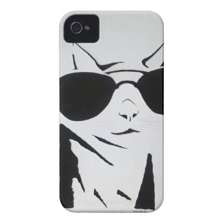 Cool Cat in Black and White Case-Mate iPhone 4 Case
