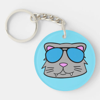 Cool Cat Keychain