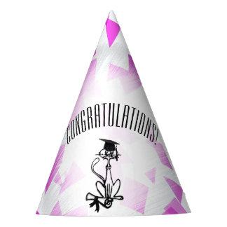 Cool Cat Kids Graduation Party Hat