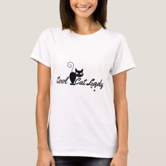 COOL CAT LADY Design Gift Present for Kitty Crazy T-Shirt