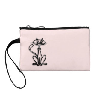 Cool Cat Pink Change Purse