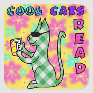 Cool Cat Reading Incentive Reward Stickers