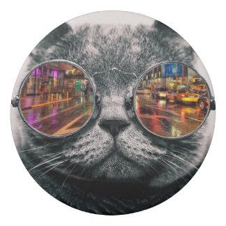 Cool Cat Sunglasses City Reflection Photo Eraser