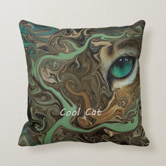 Cool Cat. Throw Pillow