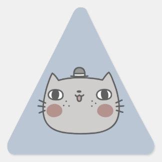 Cool Cat Triangle Sticker
