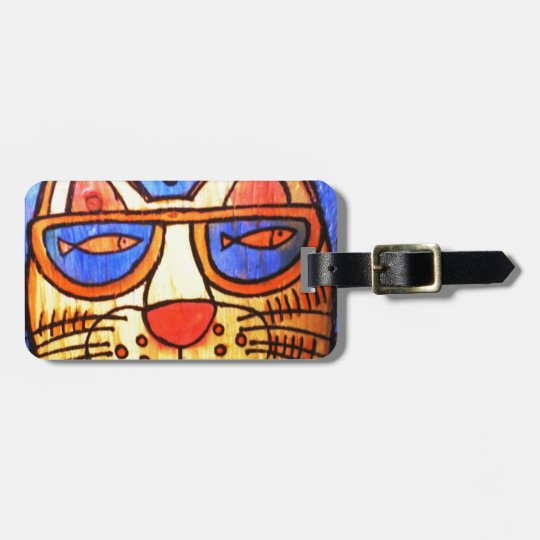 Cool Cat Wearing Shades Luggage Tag