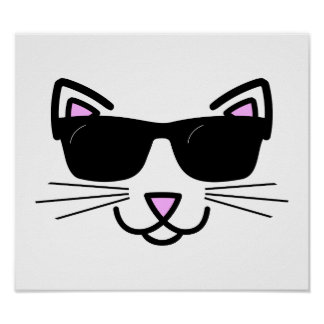 Cool Cat with Sunglasses Poster