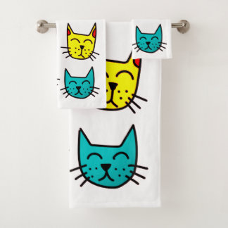 Cool Cats Bath Towel Set