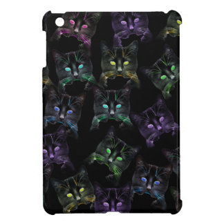 Cool Cats on Black! Multi-colored Cats Cover For The iPad Mini