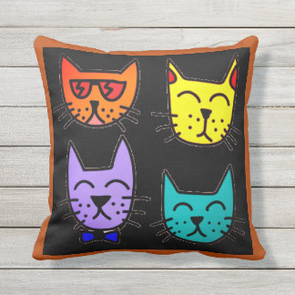 Cool Cats Outdoor Pillow