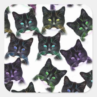Cool Cats Square Sticker