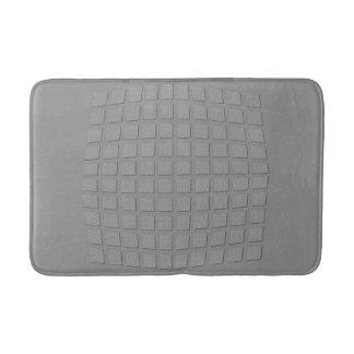 Cool Checked Silver Grey Bathmat
