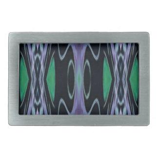 Cool Chic Artistic Purple Green Uncommon Pattern Belt Buckle