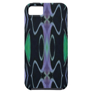 Cool Chic Artistic Purple Green Uncommon Pattern Case For The iPhone 5
