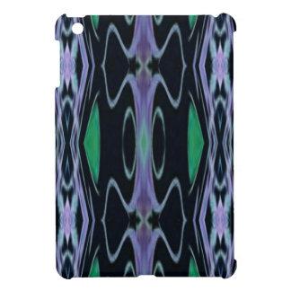 Cool Chic Artistic Purple Green Uncommon Pattern Cover For The iPad Mini