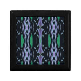 Cool Chic Artistic Purple Green Uncommon Pattern Gift Box