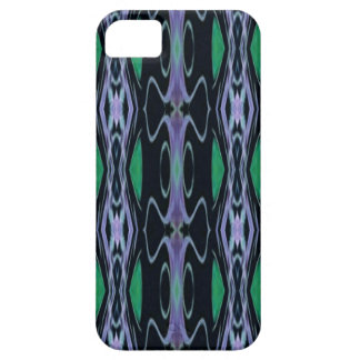 Cool Chic Artistic Purple Green Uncommon Pattern iPhone 5 Covers