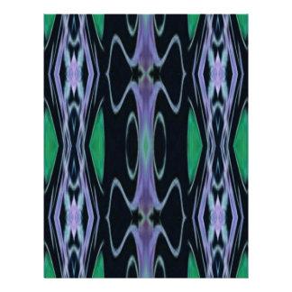 Cool Chic Artistic Purple Green Uncommon Pattern Letterhead
