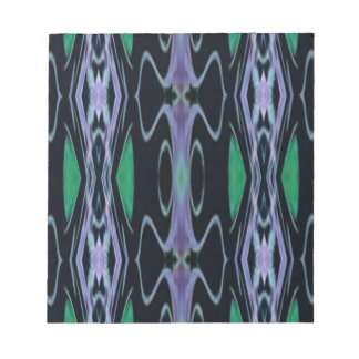 Cool Chic Artistic Purple Green Uncommon Pattern Notepad