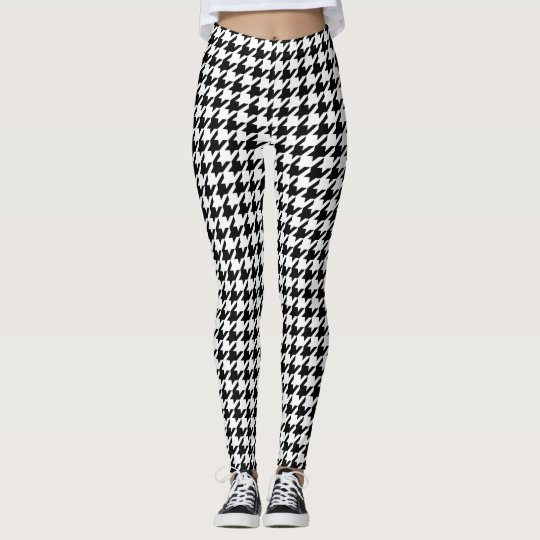 Cool Chic houndstooth Chequered Pattern Your Leggings