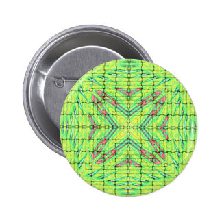Cool Chic Lime Green X Marks the Spot 2 Inch Round Button