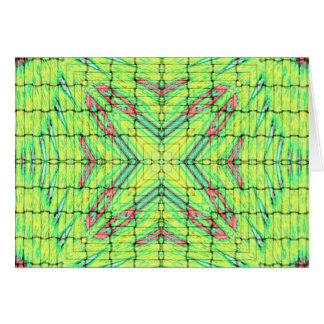 Cool Chic Lime Green X Marks the Spot Card