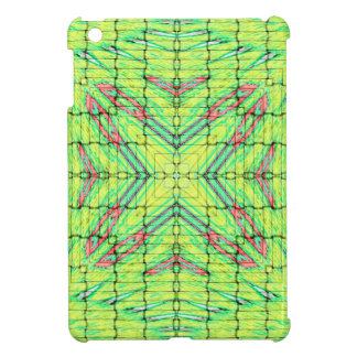 Cool Chic Lime Green X Marks the Spot iPad Mini Cover