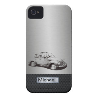 Cool chic masculine classy old car silvery black iPhone 4 case