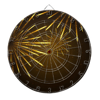 Cool Chic Modern Fireworks in the Sky Dartboard