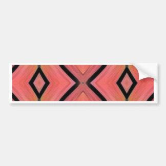 Cool Chic Peach Pink Kaleidoscope Pattern Bumper Sticker