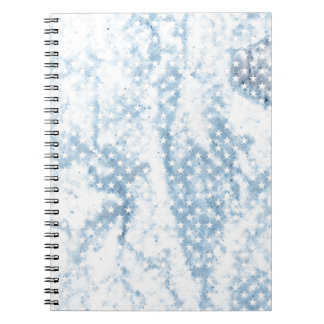 Cool Chic Retro Crinkled American Stars Notebooks