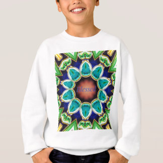 Cool Chic Turquoise Rose 'Blessed' Mandala Sweatshirt