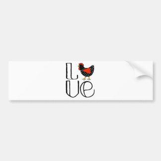 Cool Chicken Love Art Bumper Sticker