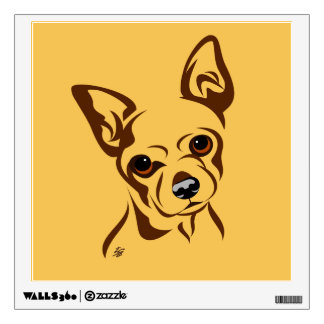 Cool Chihuahua Art Wall Decals