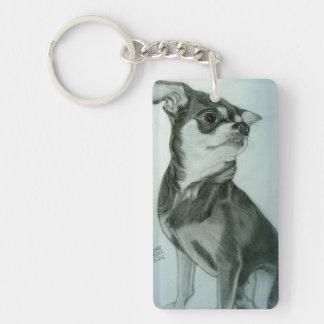 Cool Chihuahua Keychain artwork by Carol Zeock