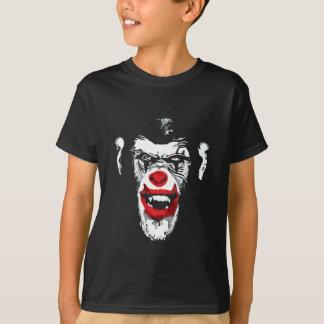 Cool Chimp White Scary Clown Chimpanzee Tee Shirts