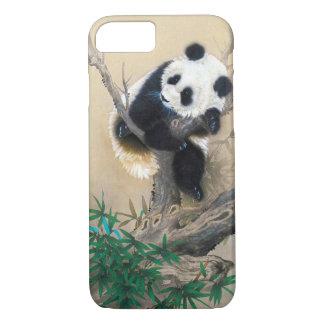 Cool chinese cute sweet fluffy panda bear tree art iPhone 8/7 case