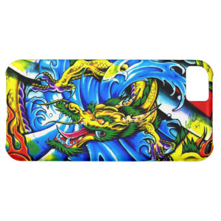 Cool chinese dragon god burning orb tattoo art iPhone 5C cases