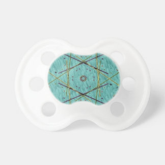 Cool Chip Modern Turquoise Pattern Pacifier