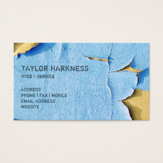 Cool Chipped Paint Peeling Cracked Blue Sand Business Card