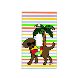 Cool Chocolate Labrador Sunglasses Light Switch Cover