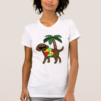 Cool Chocolate Labrador Sunglasses T-Shirt