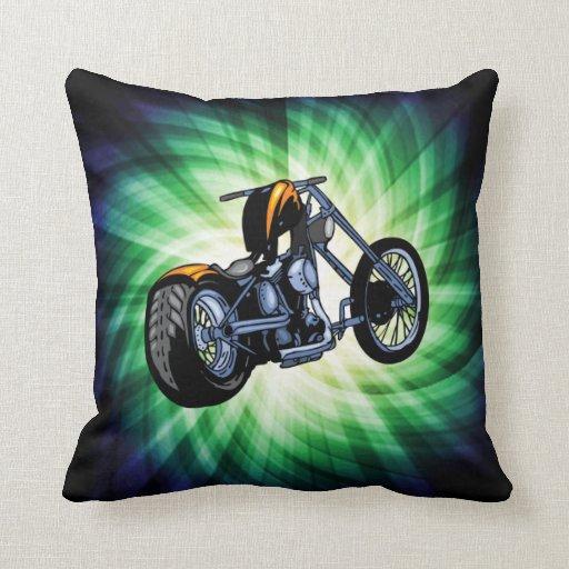 Cool Chopper Throw Pillow